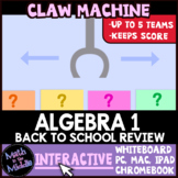 Algebra Back to School Review Claw Machine Interactive Game