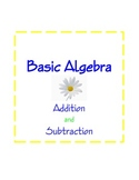 Algebra, Basic Additon and Subtraction