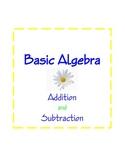 Algebra, Basic Additon and Subtraction