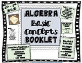 Algebra Basic Concepts BOOKLET - Terms, Examples, and Prac