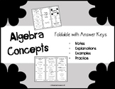Algebra Basic Concepts FOLDABLE - Terms, Examples, and Practice with Concepts