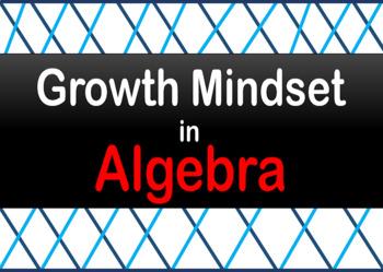 Growth Mindset Math-Algebra