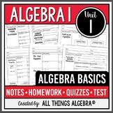 Algebra Basics (Algebra 1 - Unit 1)