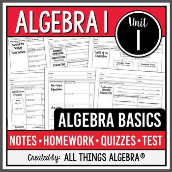 Algebra Basics (Algebra 1 Curriculum - Unit 1)