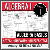 Algebra Basics (Algebra 1 Curriculum - Unit 1) DISTANCE LEARNING