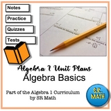 Algebra Basics Unit Plans: Algebra 1 Keystones