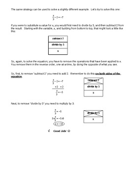 Algebra Basics VI – Two-Step Equations for Busy Teachers