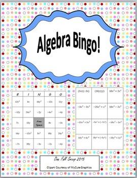 Algebra Bingo