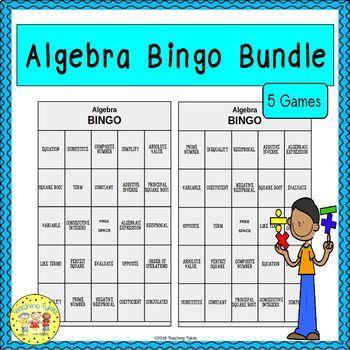 Algebra Bingo Games