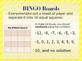 Algebra Bingo Review