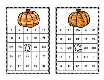 Algebra Bingo-Solving Equations -All 4 Operations-Fall Fun