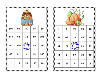 Algebra Bingo-Solving Equations -All 4 Operations-Thanksgiving Theme