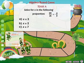 Algebra: Board Game - NOTEBOOK Gr. 6-8