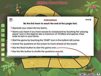Algebra: Board Game - NOTEBOOK Gr. PK-2