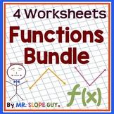 """Math Test Prep Worksheets Algebra 1 """"Survivor's Guide"""" Bundle 2"""