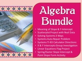 Algebra Bundle ~ Linear Equations, Systems, & Scatterplots