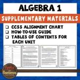 Algebra 1 Supplementary Materials