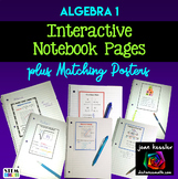 Algebra Interactive Notebook Pages and Posters Set