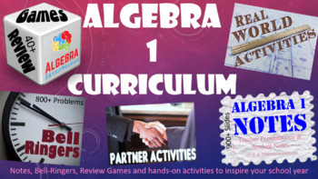 Algebra Bundle of Games, Activities, and Notes from Algebr