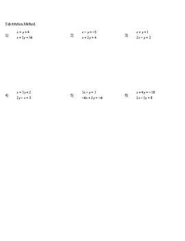 Algebra CC End of Year Review Assignments