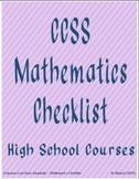 Algebra CCSS Checklist (Quarters)