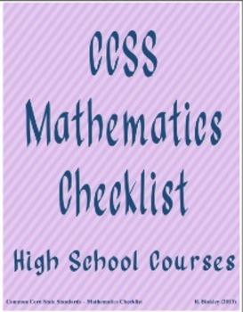 Algebra CCSS Checklist (Trimesters)
