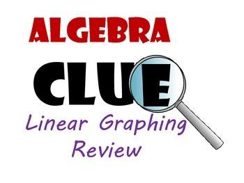 Algebra CLUE Graphing Linear Functions Review Game