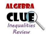 Algebra CLUE Solving Inequalities review game