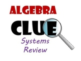 Algebra CLUE Solving Linear Systems of Equations Review Game