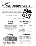 Math Calendar Project (Pre-Algebra and Algebra)