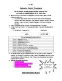 Algebra Calendar Project Directions & Rubric