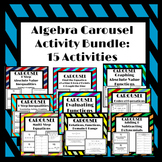 Algebra Carousel Activity Bundle
