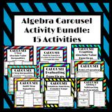 Algebra Carousel Activity Bundle