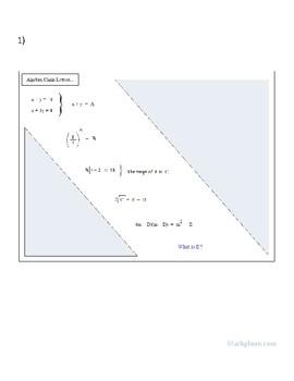 Algebra Chain Letters