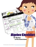 Algebra Checklist: Complete Course Review