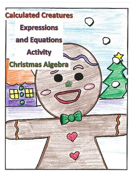 Algebra Christmas Activity Order of Operations Project