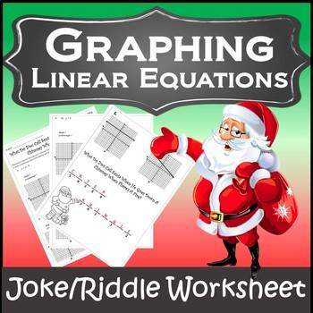 Algebra Christmas Graphing {Slope-Intercept Form Christmas Activity}