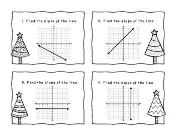 Algebra Christmas Slope Task Cards
