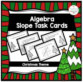 Algebra Christmas Slope Task Cards
