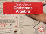 Algebra Christmas Task Cards #stemsgiving