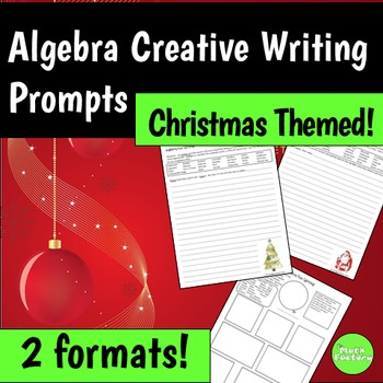 Algebra Christmas Writing Prompts