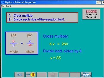 Algebra Class Interactive software