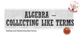 Algebra - Collecting Like Terms