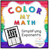 Algebra Color My Math Simplifying Exponents