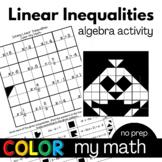 Algebra Color My Math Solving Linear Inequalities