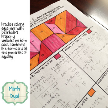 Algebra Coloring Activities Bundle