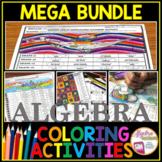 Algebra 1 Coloring Activities MEGA Bundle