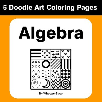 Algebra - Coloring Pages | Doodle Art Math