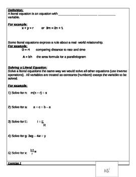 Algebra Common Core New York- Module 1 Lesson 19
