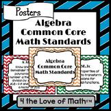 Algebra Common Core Standard Posters {Chevron}